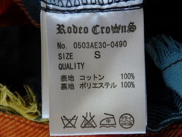 ロデオクラウンズ オールインワン サイズS レディース ブルー×オレンジ×マルチ