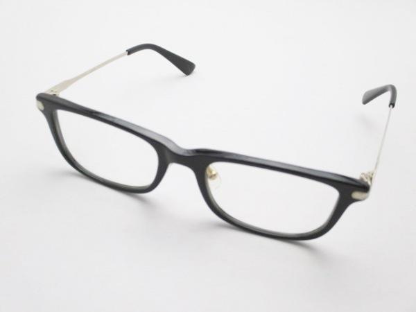 Ayame(アヤメ) メガネ 黒×シルバー×クリア プラスチック×金属素材