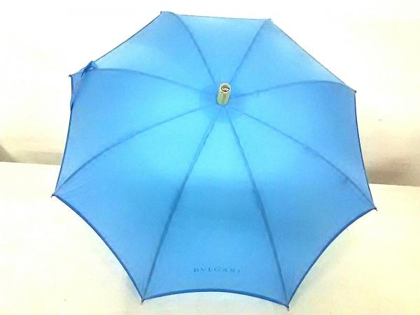 BVLGARI(ブルガリ) 傘美品  ライトブルー 化学繊維