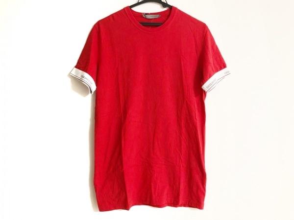 DSQUARED2(ディースクエアード) 半袖Tシャツ サイズM メンズ レッド×白
