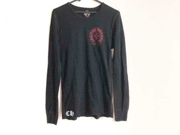 クロムハーツ 長袖カットソー サイズS メンズ 黒×レッド×ダークグレー