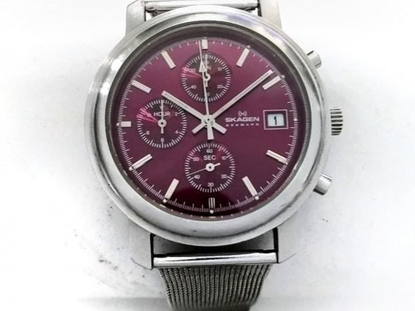 SKAGEN(スカーゲン) 腕時計 24USSV メンズ ボルドー