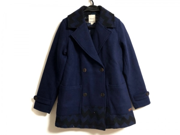 Roxy(ロキシー) コート サイズM レディース ネイビー×黒 冬物