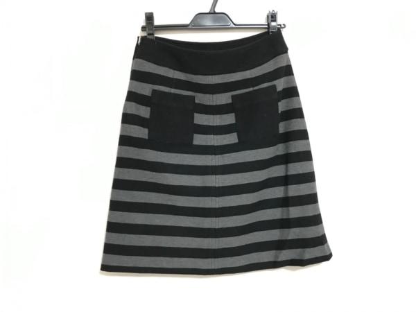 SONIARYKIEL(ソニアリキエル) スカート サイズ38 M レディース 黒×グレー ボーダー