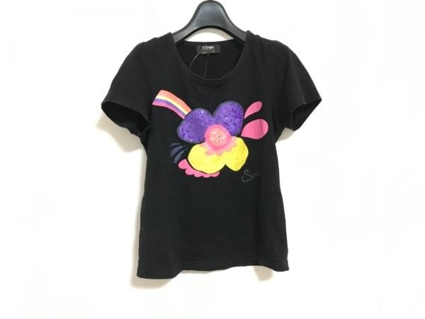 ソニアリキエル 半袖Tシャツ サイズ38 M レディース美品  黒 スパンコール/ビーズ