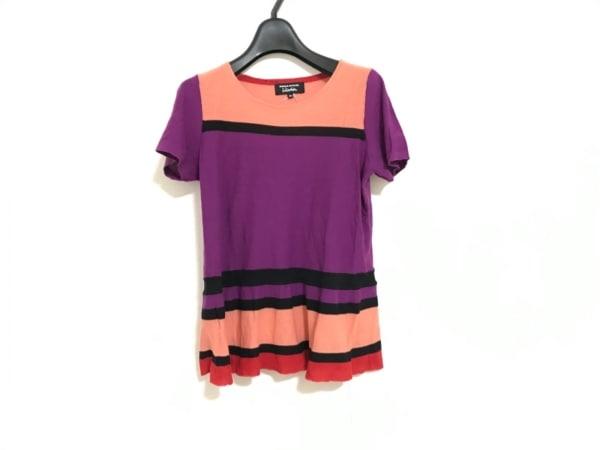 ソニアリキエル 半袖セーター サイズ38 M レディース パープル×オレンジ×マルチ