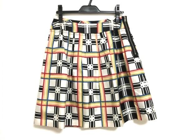SONIARYKIEL(ソニアリキエル) スカート サイズ40 M レディース美品  白×黒×マルチ