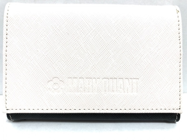 MARY QUANT(マリークワント) カードケース新品同様  ピンク×黒 キーリング 合皮