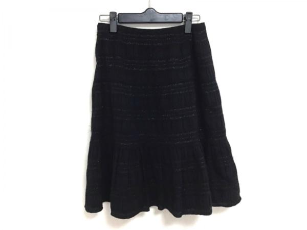miss ashida(ミスアシダ) スカート サイズ7 S レディース 黒 ラメ