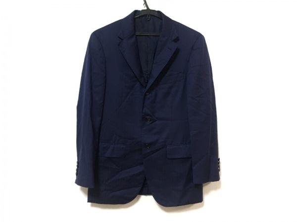 EDIFICE(エディフィス) ジャケット サイズ45 メンズ美品  ネイビー ストライプ