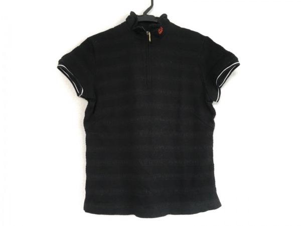 ミエコウエサコ 半袖カットソー サイズ40 M レディース 黒 M-U SPORTS/ラインストーン