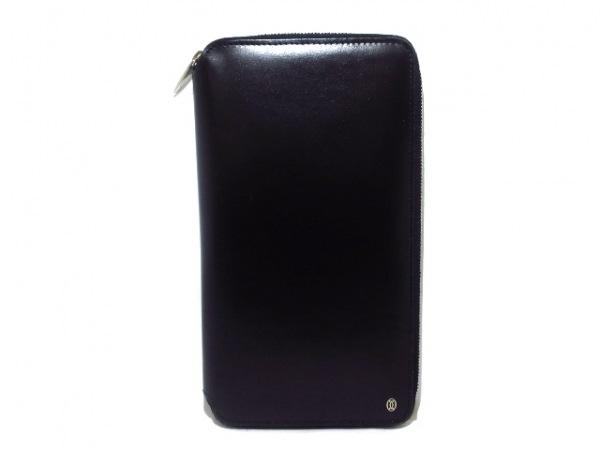 Cartier(カルティエ) 財布 パシャ 黒 ラウンドファスナー レザー