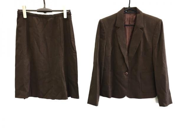 ローラアシュレイ スカートスーツ サイズ13 L レディース美品  ダークブラウン