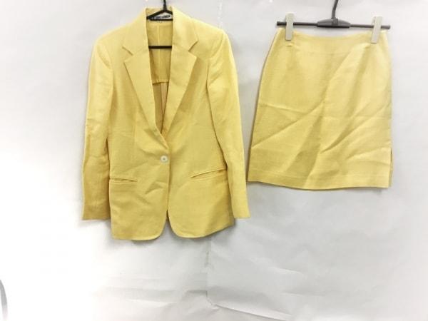 49アベニュージュンコシマダ スカートスーツ サイズ9 M レディース美品  イエロー