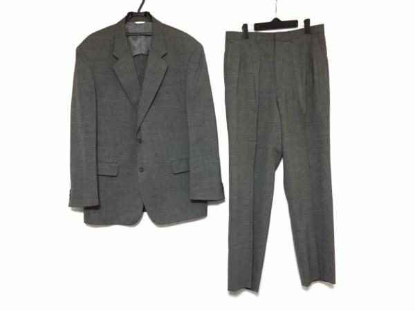 DURBAN(ダーバン) シングルスーツ サイズXL メンズ グレー×ダークグレー ネーム刺繍