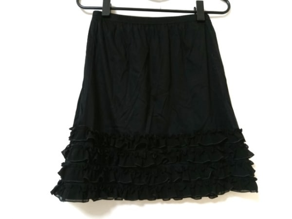 TO BE CHIC(トゥービーシック) スカート サイズ2 M レディース美品  黒 フリル