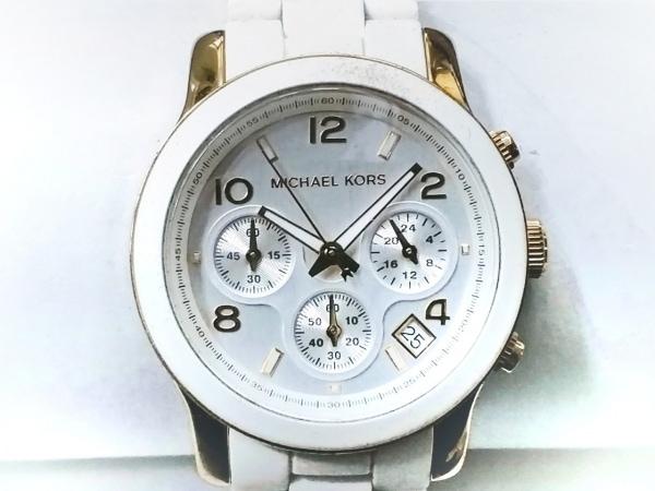 MICHAEL KORS(マイケルコース) 腕時計 MK-5145 レディース クロノグラフ シルバー