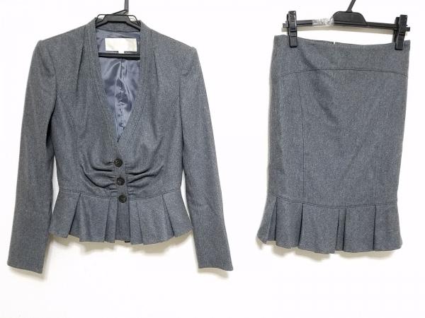 シトラスノーツ スカートスーツ サイズ38 M レディース ダークグレー 肩パッド