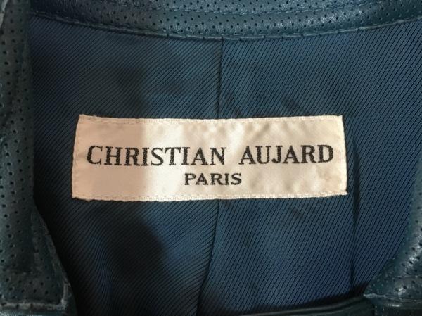CHRISTIAN AUJARD(クリスチャンオジャール) コート レディース美品  ブルー レザー