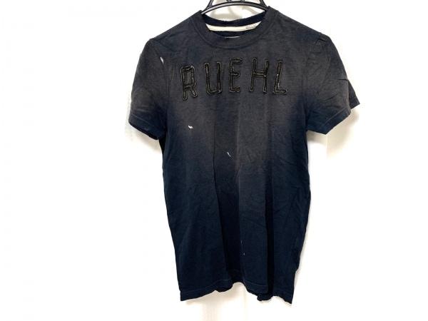 RUEHL No.925(ルール) 半袖Tシャツ サイズM メンズ ダークネイビー×黒 ダメージ加工