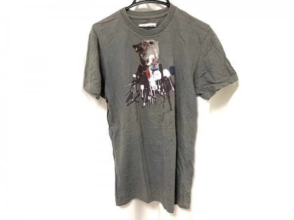 RUEHL No.925(ルール) 半袖Tシャツ サイズL メンズ美品  グレー×マルチ