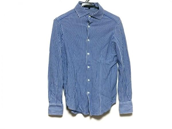 DESIGNWORKS(デザインワークス) 長袖シャツ サイズ44 L メンズ ブルー×白 ストライプ