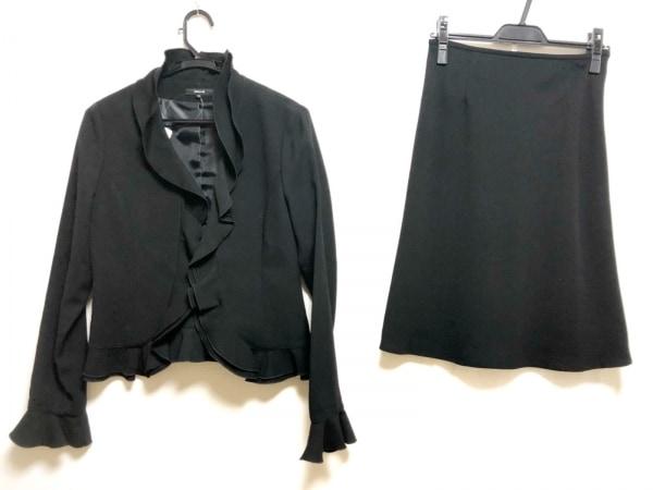 COMME CA ISM(コムサイズム) スカートスーツ レディース 黒 フリル