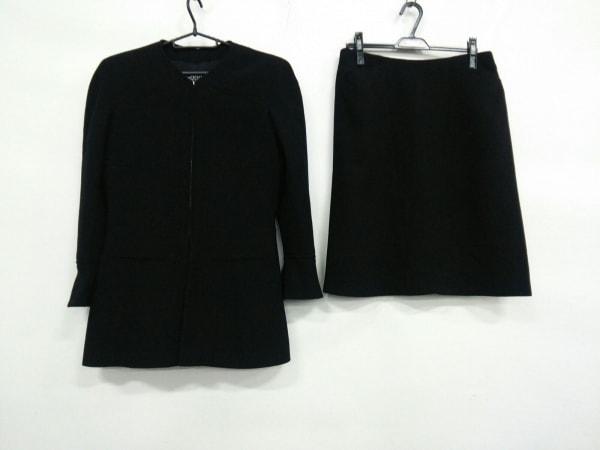 CHANEL(シャネル) スカートスーツ サイズ44 L レディース 黒 ジップアップ