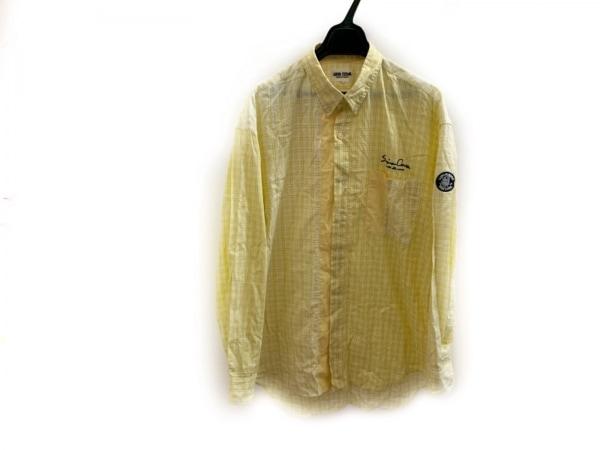 SINACOVA(シナコバ) 長袖シャツ サイズL メンズ美品  白×イエロー チェック柄