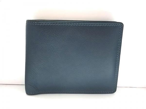 Falchi New York(ファルチ ニューヨーク) 2つ折り財布 ダークグリーン レザー