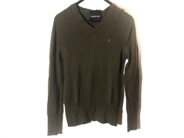 DRESS CAMP(ドレスキャンプ) 長袖セーター サイズ46 XL メンズ カーキ