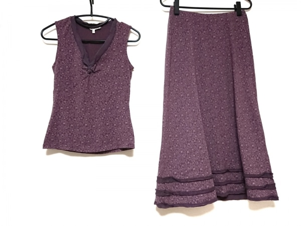 LAURAASHLEY(ローラアシュレイ) スカートセットアップ レディース美品  パープル