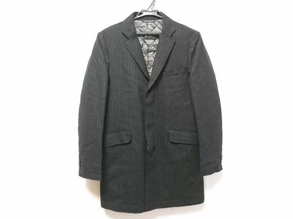 ムッシュニコル ジャケット サイズ46 XL レディース 黒×グレー ストライプ