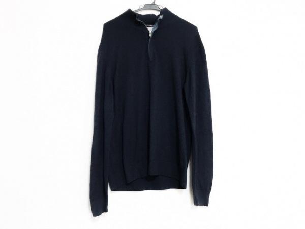 ErmenegildoZegna(ゼニア) 長袖セーター サイズS48 メンズ美品  ネイビー