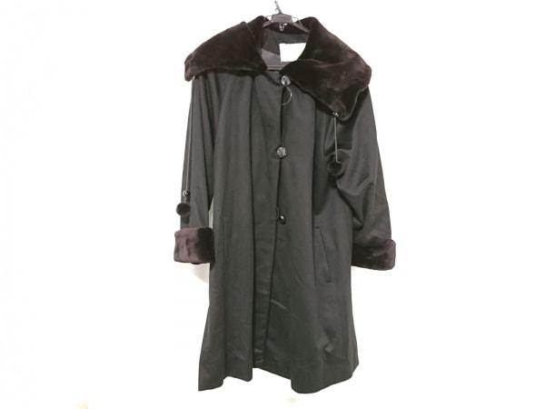PIACENZA(ピアチェンツァ) コート サイズ38 M レディース 黒×ダークブラウン