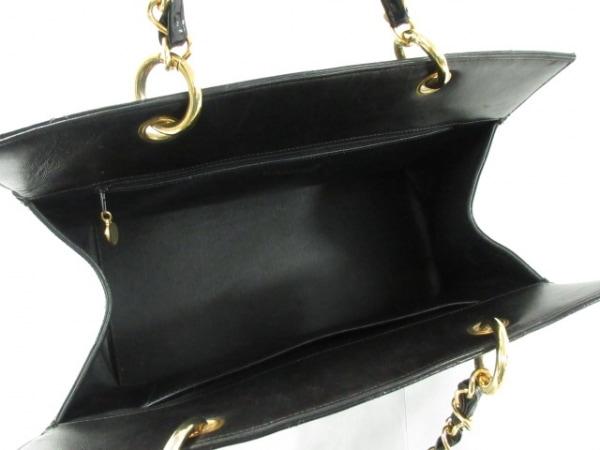 CHANEL(シャネル) トートバッグ デカマトラッセ 黒 チェーンショルダー/ゴールド金具