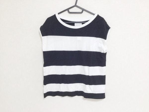 アッパーハイツ ノースリーブTシャツ サイズ0S S メンズ 黒×白 ボーダー