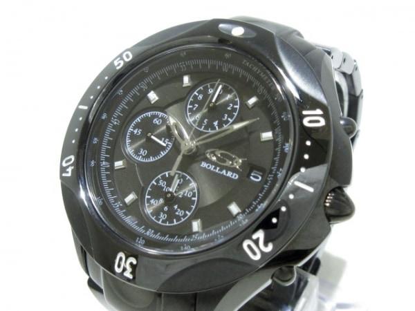 GSX WATCH(ジーエスエックス) 腕時計美品  GSX905BBK メンズ BOLLARD/クロノグラフ 黒