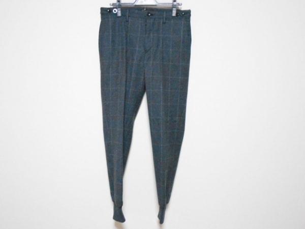 ジーティーアー パンツ サイズ46 XL メンズ ダークグレー×ライトグレー チェック柄