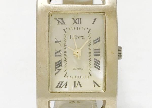 Libra(リブラ) 腕時計 - - レディース 革ベルト アイボリー