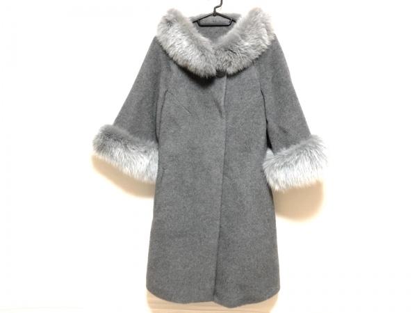 スプラングフレール コート サイズXS レディース グレー ×SAGA FURS/冬物