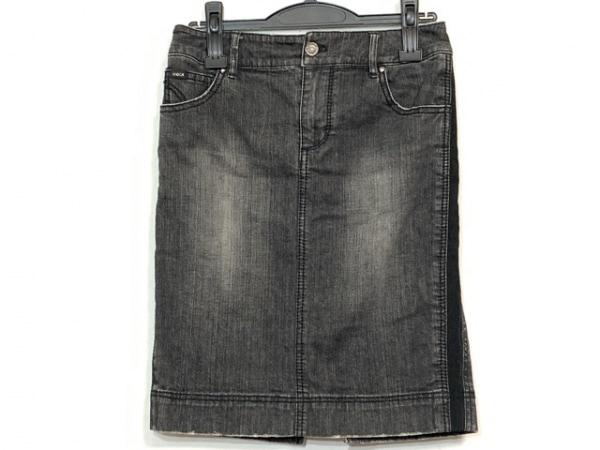 エポカ ミニスカート サイズ40 M レディース美品  ダークグレー ビジュー/デニム