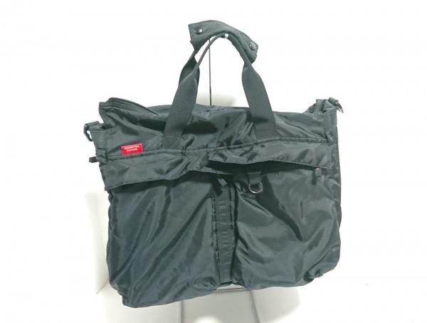 MANHATTAN PASSAGE(マンハッタンパッセージ) ハンドバッグ美品  黒 ナイロン