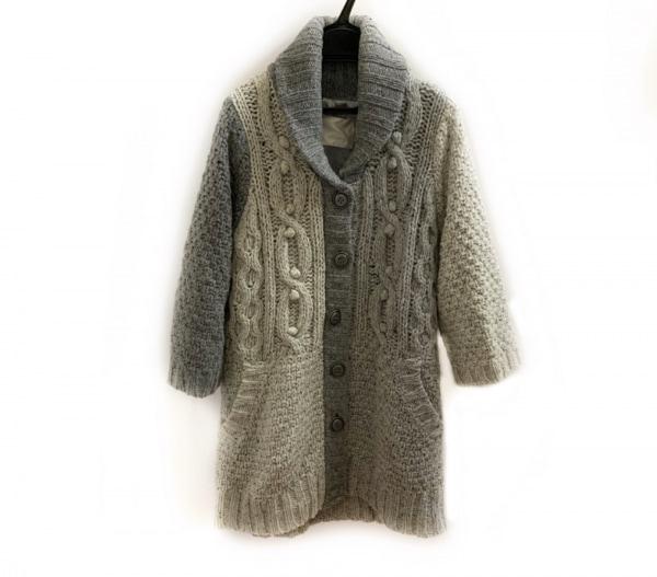 JEANASIS(ジーナシス) コート レディース美品  ライトグレー×グレー ニット/冬物