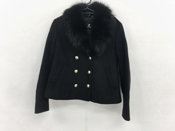 LOVELESS(ラブレス) コート サイズ36 S レディース 黒 冬物/ファー/ショート丈