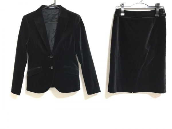 NEW YORKER(ニューヨーカー) スカートスーツ サイズ9 M レディース美品  黒 ベロア