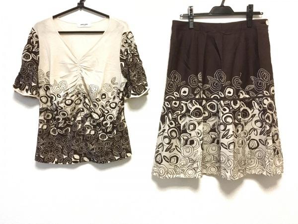 ピエールカルダン スカートセットアップ サイズ15 L レディース美品  花柄