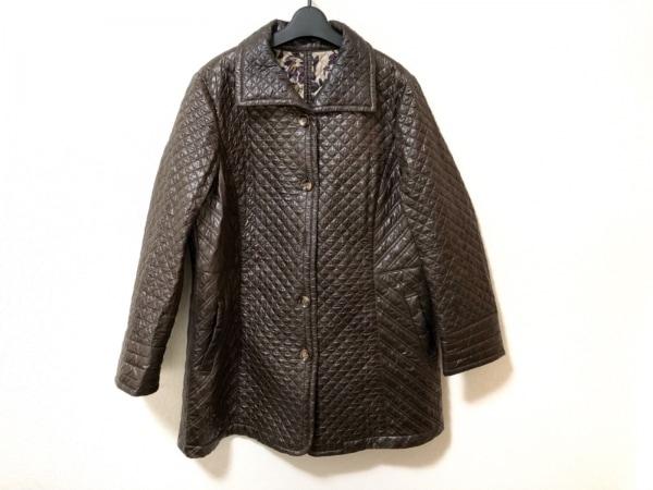 レリアン コート サイズ15+ L レディース美品  ダークブラウン キルティング/冬物