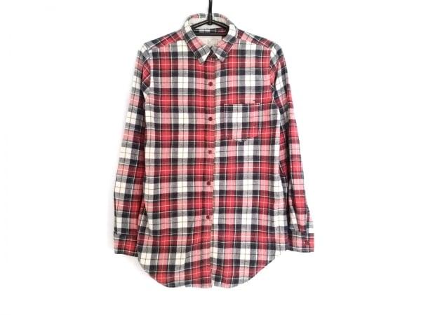 G.O.A/goa(ゴア) 長袖シャツ サイズF メンズ レッド×ネイビー×マルチ チェック柄