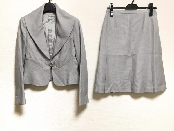 Leilian(レリアン) スカートスーツ レディース美品  ライトグレー